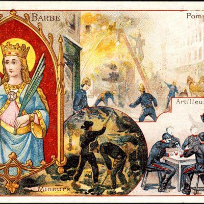 Vie & coloriages de sainte Barbe