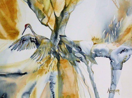 Stage d'aquarelle les 15 et 16/09/2020 proposé par Donna Acheson Juillet landes aquarelle festival Morcenx 40110