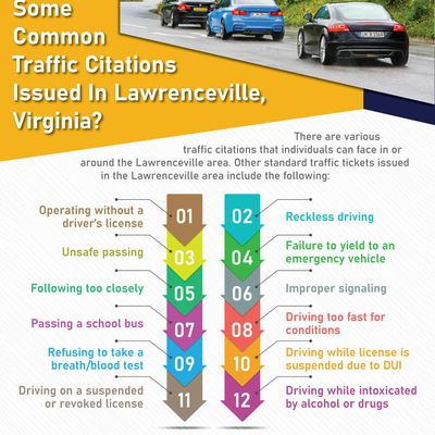 What Are Some Common Traffic Citations Issued In Lawrenceville, Virginia?