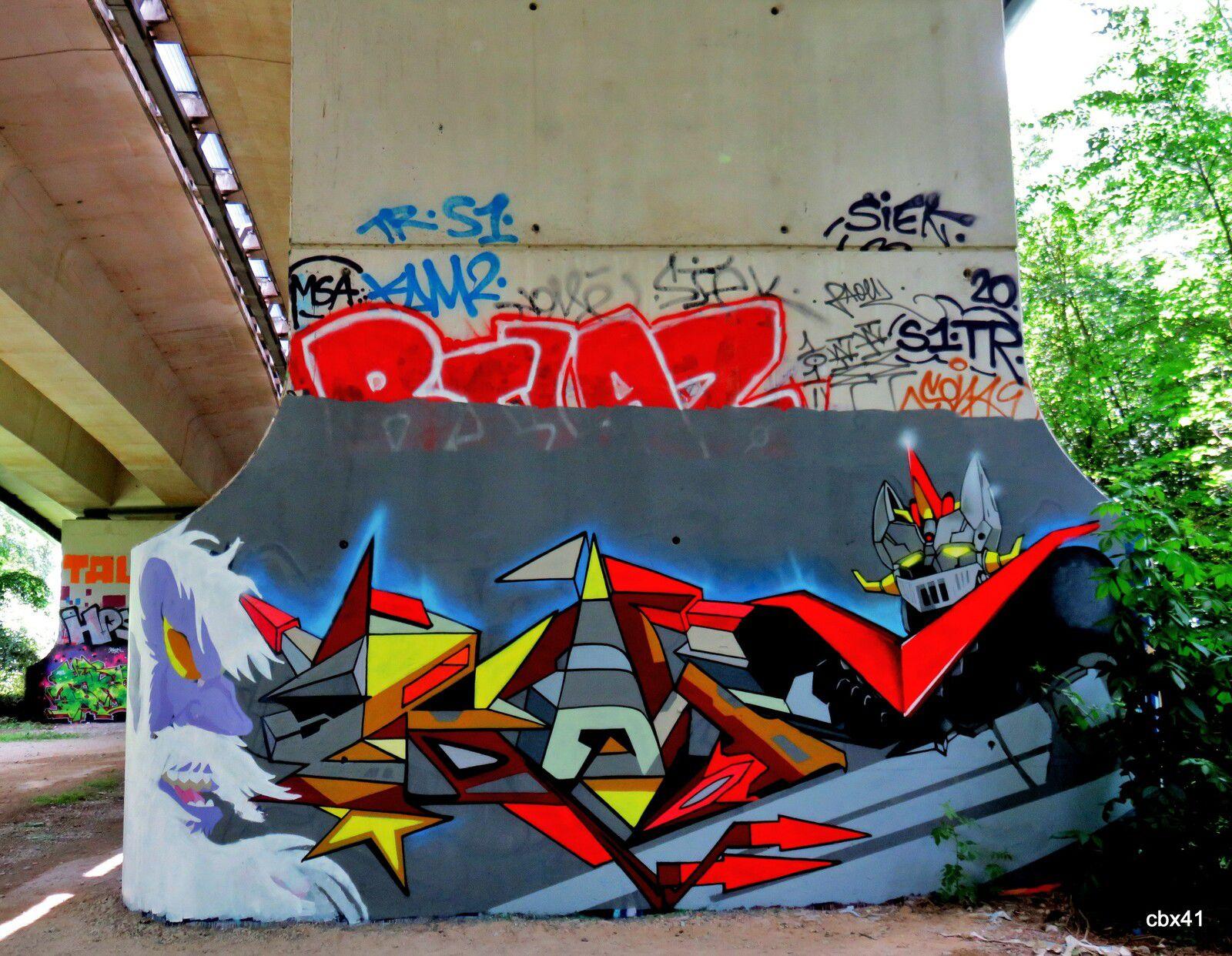 Graffs du Viaduc autoroutier de Montesson, Yvelines (4/5)