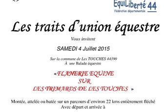 Rando aux Touches (44) samedi 4 juillet 2015