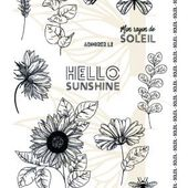 fdstta6028-tampons-transparents-a6-tournesols FEE DU SCRAP