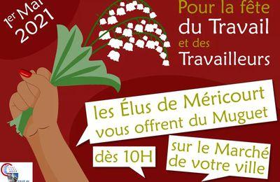 1er mai 2021 : les élus de Méricourt seront sur le marché pour vous offrir du muguet