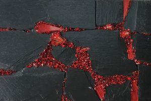 Mosaique sur ardoise 19x32 cm.