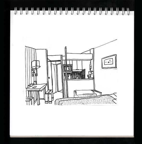 croquis et dessins made in La Plagne