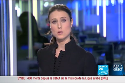 2012 01 10 @23H00 - AUDE LECHRIST, FRANCE 24, PARIS DIRECT