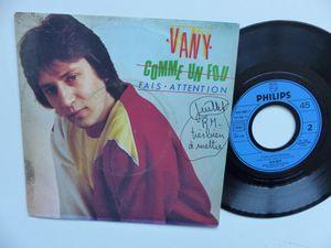 """vany, un chanteur français imbibé de funk lors des années 1980 avec son titre emblématique """"fais attention"""""""