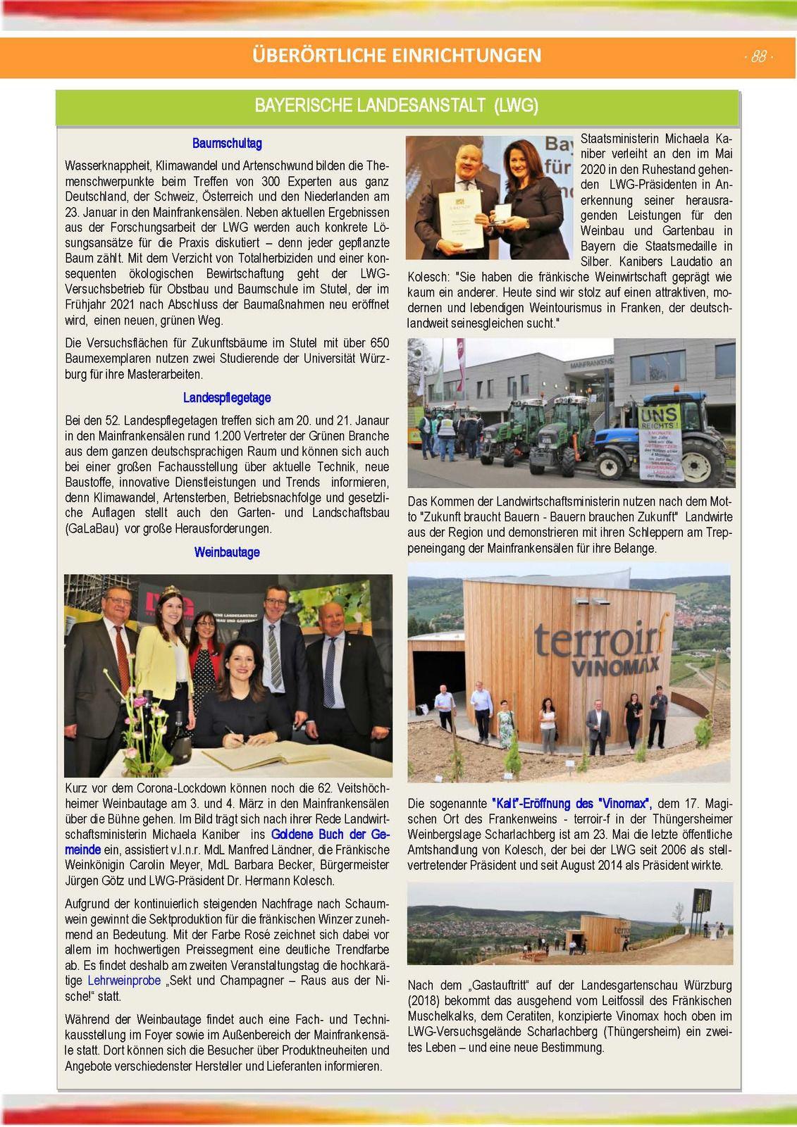 Veitshöchheim im Coronajahr 2020 - Ein Rückblick auf 100 Seiten in der Jahreschronik 2020 der Gemeinde