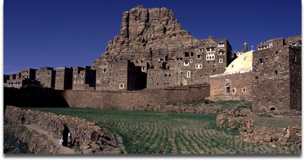 La ville Forteresse de Thilla, dans le Yémen du Nord