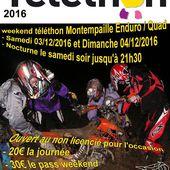 Weekend Téléthon moto et quad à Montempaille (41), le 3 et 4 décembre 2016 - Randonnée Enduro du Sud Ouest