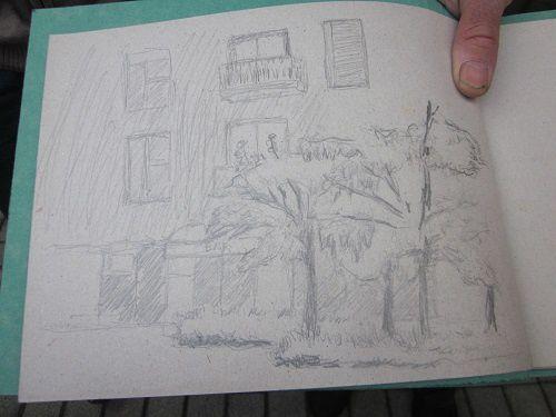 Croquis d'extérieur au jardin des Fonderies