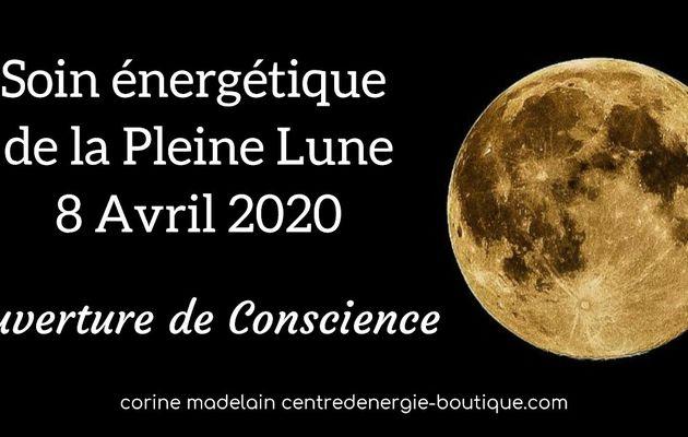 Soin énergétique collectif Pleine Lune 8 avril 2020