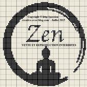 Grille gratuite point de croix : Bouddha Zen - Le blog de Isabelle
