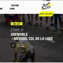 Arrivée du  Tour de France au Col de La Loze le 16 Septembre
