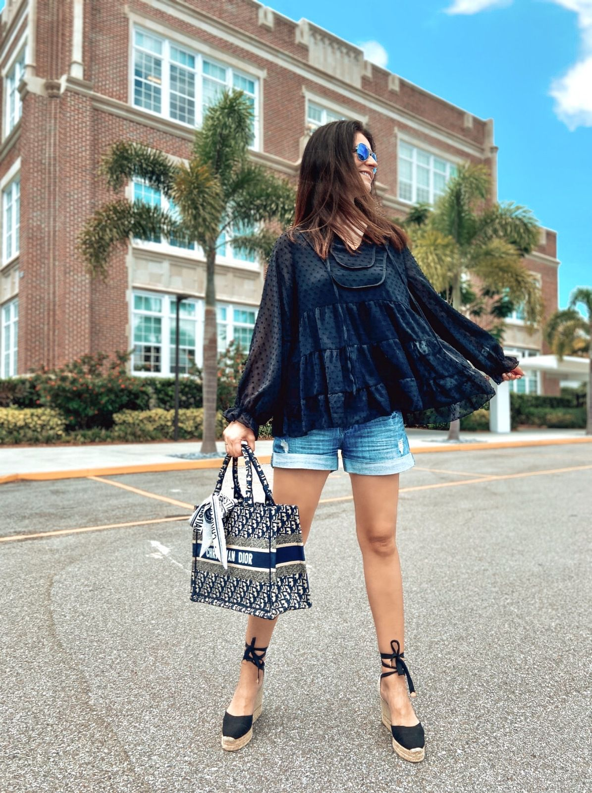 Summer Uniform in shorts and Boho Blouse