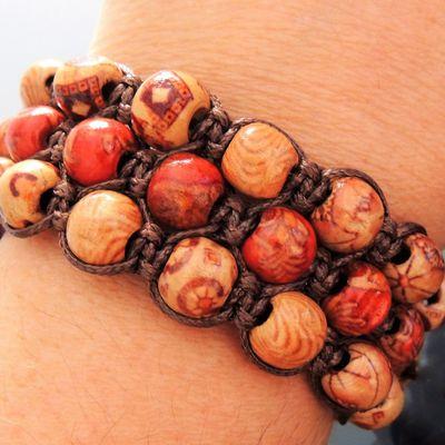 bracelet triple shamballa perles 8 mm