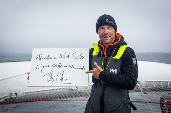 Thomas Coville sur Sodebo explose le record de traversée de l'Atlantique Nord