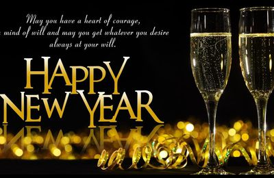 Happy New Year 2021 - Champagne - Flûtes - Décorations - Fêtes - Wallpaper - Free