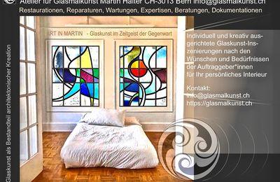 Farben im Licht - die Glasmalerei ART IN MARTIN Atelier Halter in CH-3013 Bern