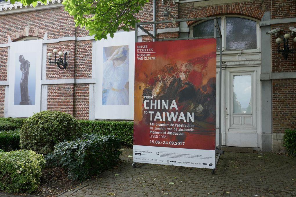 Vues de l'exposition © photographies Le Curieux des arts Gilles Kraemer, juillet 2017, exposition From China To Taïwan. Les pionniers de l'abstraction (1955-1985), Ixelles, Belgique