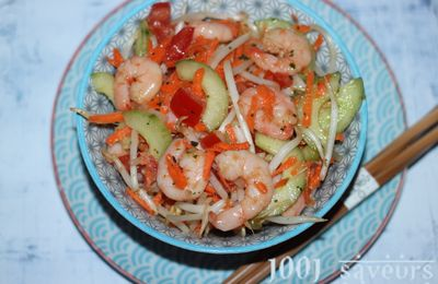 Salade chinoise aux crevettes