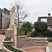 Les 4 fontaines de Montmartre : 1. La fontaine Saint-Denis. - Montmartre secret