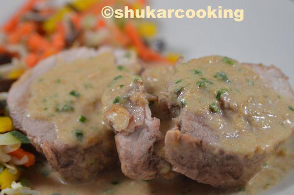 Médaillons de porc sauce Satay