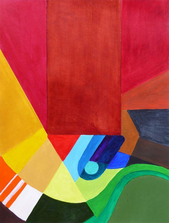 Peintures et collages de Danièle Mengual