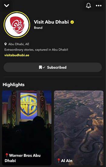 Visit Abu Dhabi snapchat aerobernie