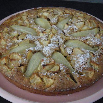 Gâteau pomme poire