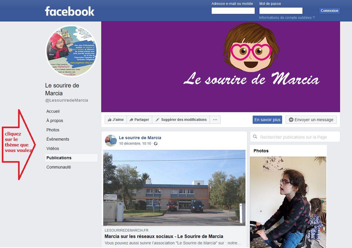 Découvrez la page Facebook du Sourire de Marcia