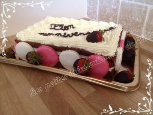 Forêt rouge (génoise chocolat, fraises et chantilly mascarpone)