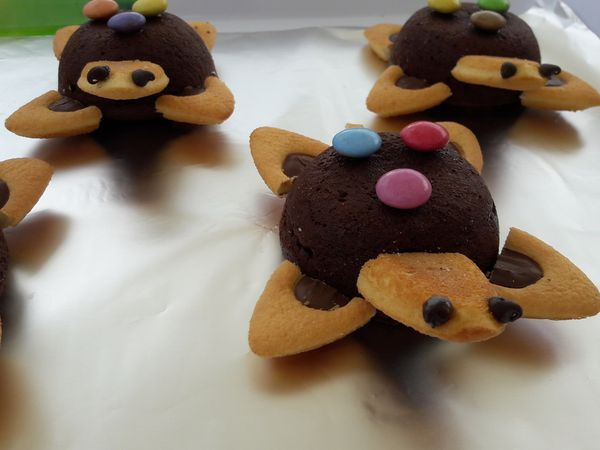 Fondants au chocolat version petites tortues