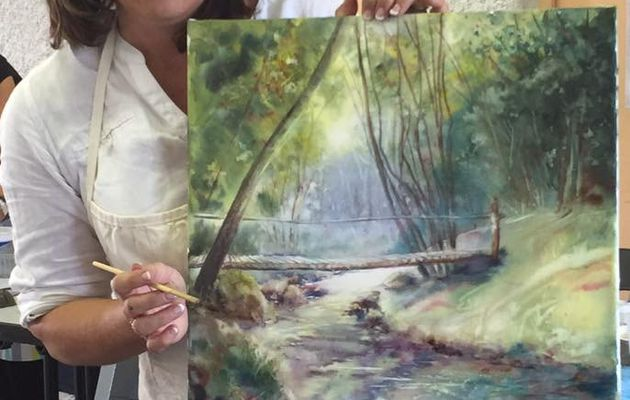 Stage d'aquarelle les 19 et 20/09/2020  proposé par Corinne Izquierdo Landes aquarelle festival Morcenx 40110