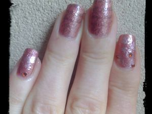 Nail Art Stamping feuille d'automne....