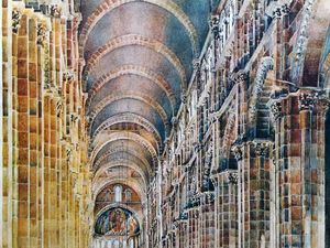 Cluny  telle qu'elle nous apparait - Cluny III telle qu'elle fut - une reconstitution virtuelle de la grande nef de l'abbatiale - Haras de Cluny...