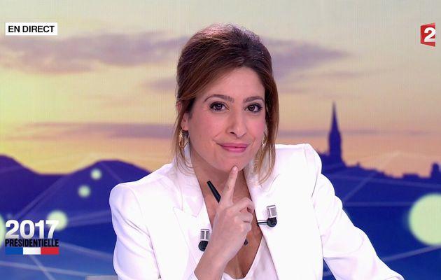 📸12 LEA SALAME @LeaSalame ce soir @France2tv #ElectionPresidentielle2017 #vuesalatele