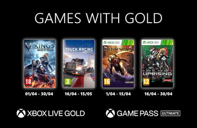 Games with Gold - Avril 2021