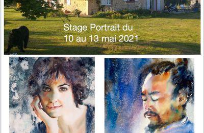Stage portrait à l'aquarelle à Morcenx du 10 au 13/05/2021 animé par Claude Allègre