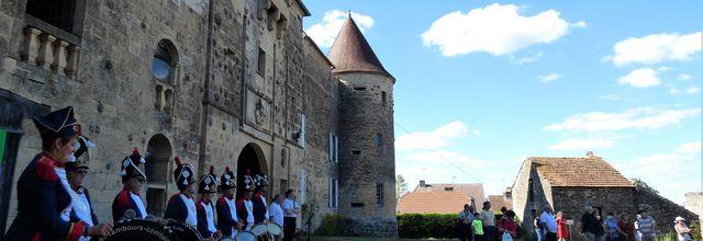 Au château de Bougey, inauguration d'une exposition consacrée à l'Etat de Franche Comté en 1814.