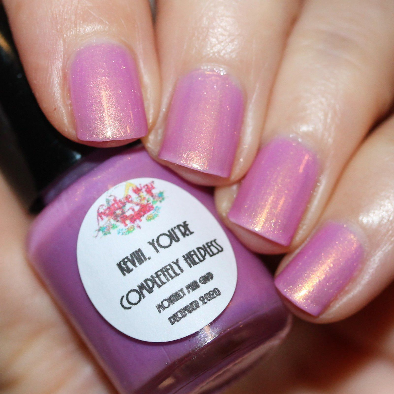 Essie Protein Base Coat / Native War paints Kevin, You're Completely Helpless / Sally Hansen Miracle Gel Top Coat