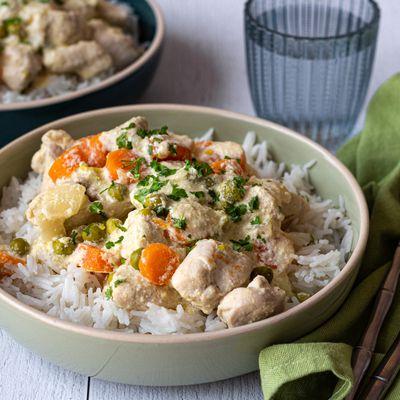 Blanquette de poulet aux petits-pois et carottes au Cookeo (ou sans)