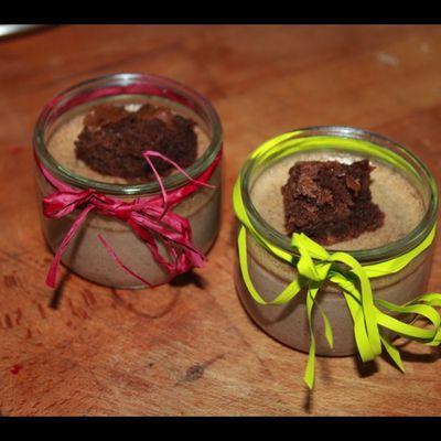 Crèmes aux Brownies pour la ronde interblog ....
