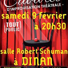 Cabaret d'impro samedi 9 février - Salle Schuman Dinan