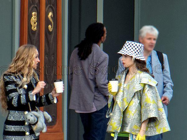 Emily in Paris season 2, tournage avec Lily Collins à la Samaritaine, Paris 1er, 07 Juin 2021