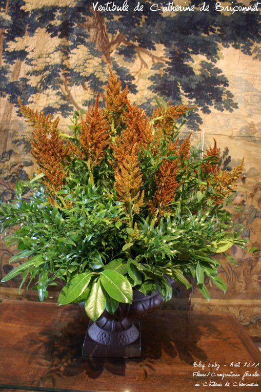 Bouquets et compositions vues au Château de Chenonceau (août 2011)