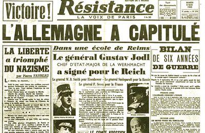 8 mai 1945 : ne pas oublier  !
