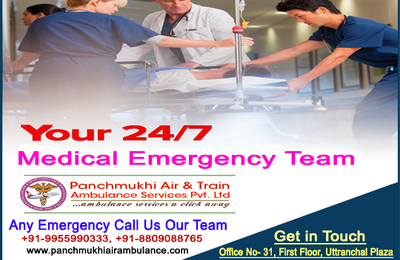 Get India's best Train Ambulance from Patna to Delhi with Expert Team by Panchmukhi