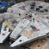 Exclusive photographs show Millennium Falcon has arrived for filming