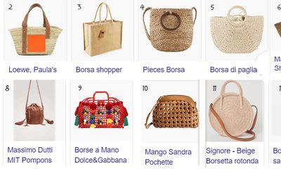 Le borse in paglia e a rete tendenze moda estive: 13 modelli